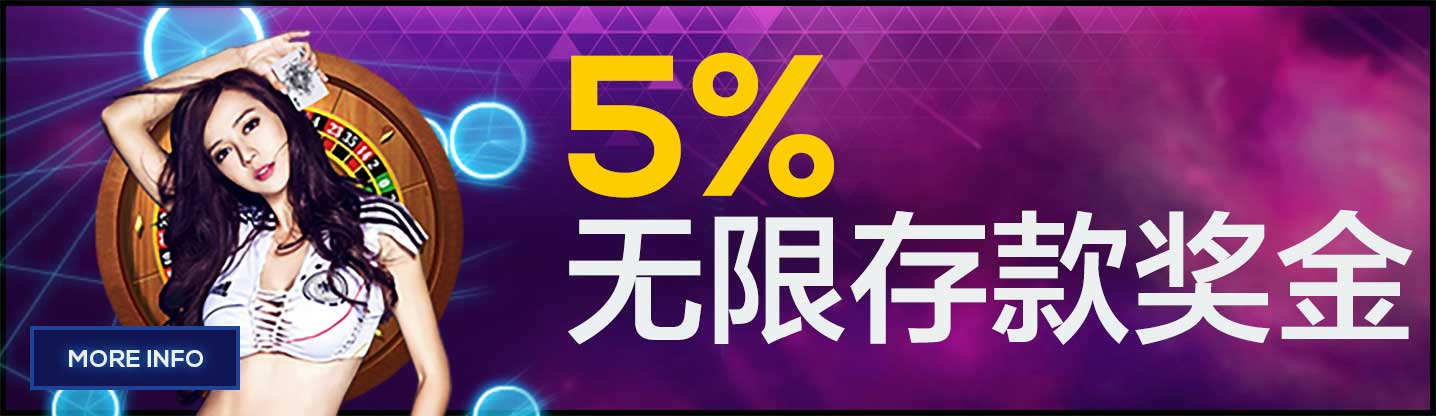 % Unlimited Deposit Bonus Everyday